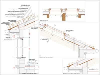 Una bella casa di campagna progetto tetto in legno dwg for Tetto in legno dwg